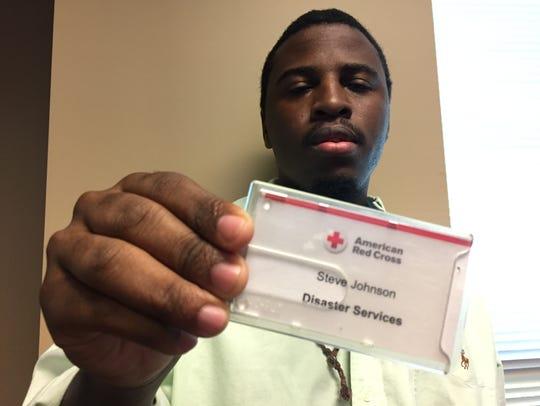 Red Cross volunteer Steve Johnson of Alexandria said
