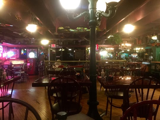 Spanky's dining room is its own visual banquet, with vintage totchkes and old toys in every nook.