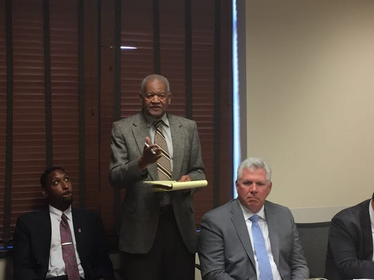 Autumn Hills' CEO Sam Latham speaks during a Metro Nashville Industrial Development Board meeting last year.