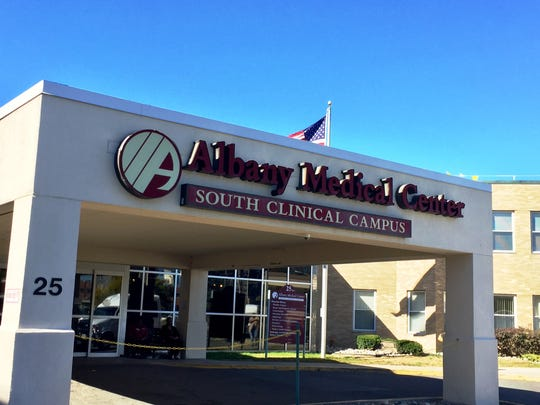 The entrance to the Albany Medical Center's South Clinical