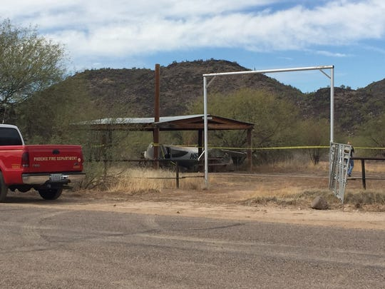 A small plane crashed on Oct. 12, 2016, near 43rd Avenue and Pinnacle Peak Road. Two people on board were injured, according to the Phoenix Fire Department.