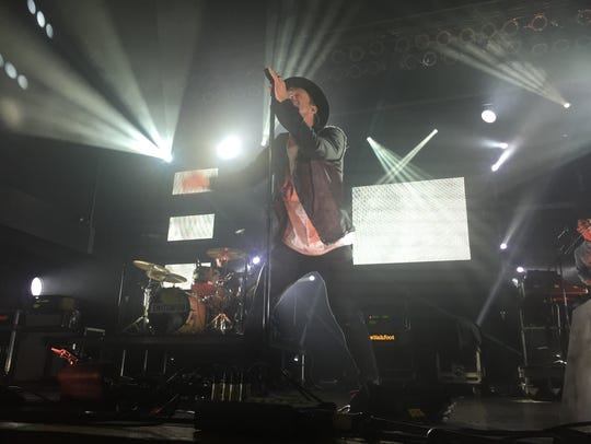 Switchfoot lead singer Jon Foreman sings during the