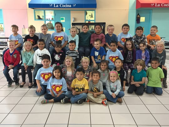 Kindergartners are recognized for characters count