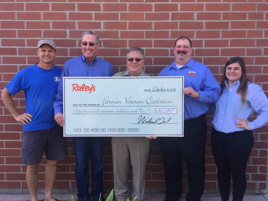 Presentation of check from Raley's.
