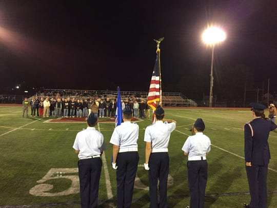 Boonton High School military veterans are honored during