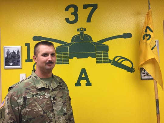 Capt. Joe Doyle commands Alpha Company, 1st Battalion, 37th Armored Regiment. He will be leading a team of about 100 armor soldiers on a rotation at NTC, joining 1st Brigade there.