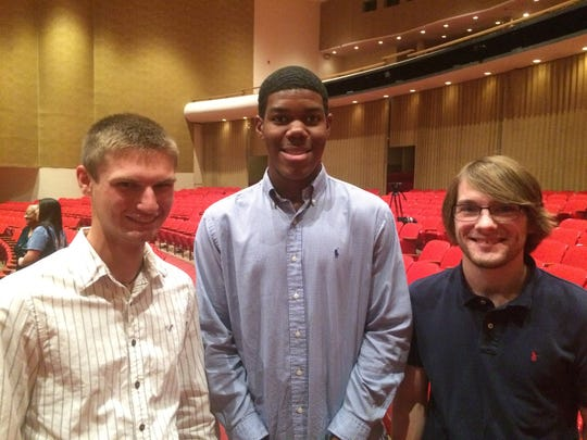 Daniel Simon, Caleb Slaughter and Peter Kistler, E.C. Glass High School seniors, enjoyed having the Goodlatte-Degner debate at their school on Oct. 17, 2016.  They submitted questions for the candidates as an assignment for their AP U.S. Government class beforehand.