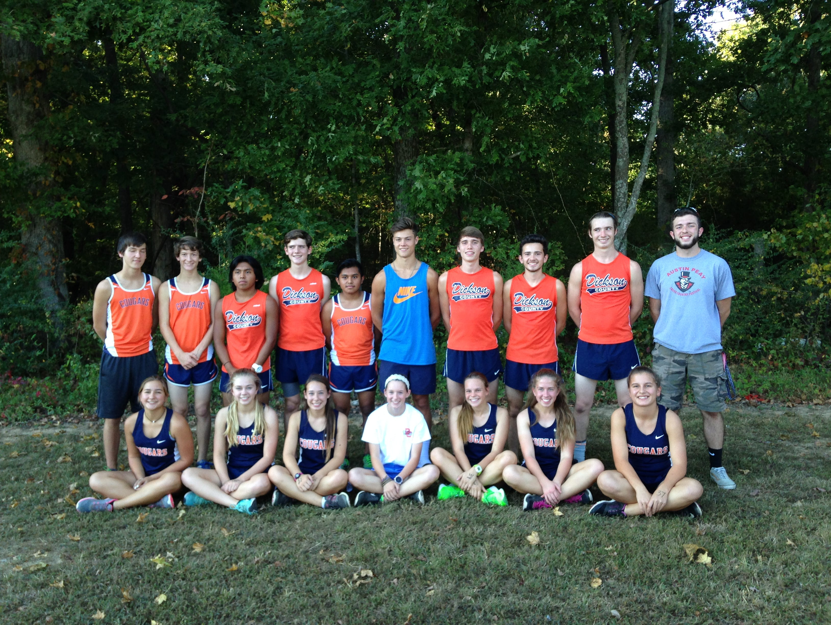 The Dickson County Cross Country team before one of it's meets.