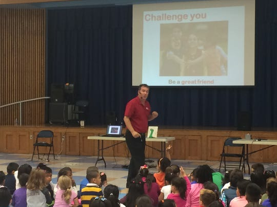 Students participated in a PTA sponsored assembly presented by Anti-Bully expert, Jim Jordan.