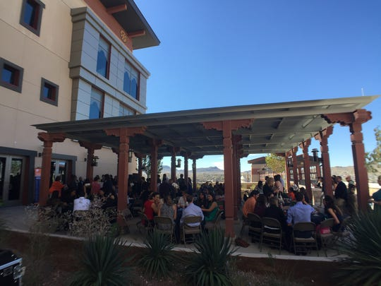 Students from the University of Texas at El Paso College of Health Sciences gather Tuesday. The college received over $7.7 million in scholarships for graduate students in the social work, occupational therapy and physical therapy programs.