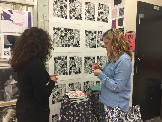 Wauwatosa East senior Luci Hovel discusses her artwork