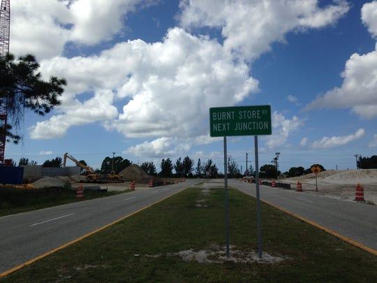 Van Buren Parkway's west end Ts into  Burnt Store Road
