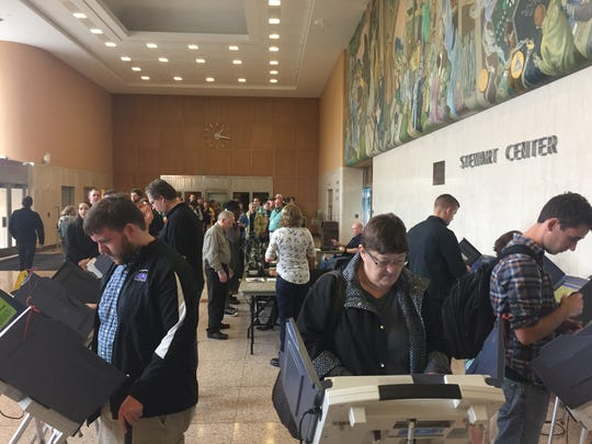 Early voting brought lines Thursday to Purdue University's