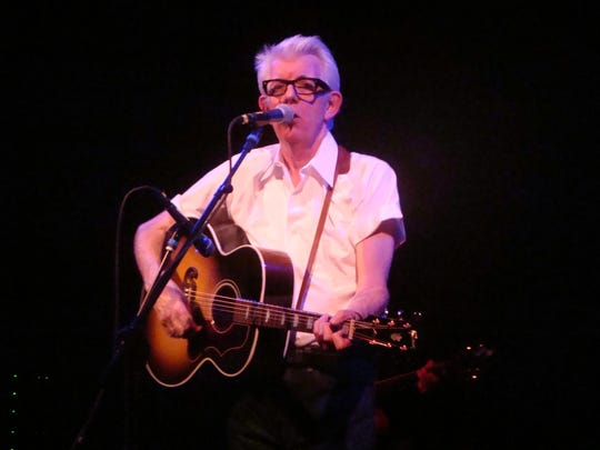 Nick Lowe performs at the Mount Tabor Tabernacle.