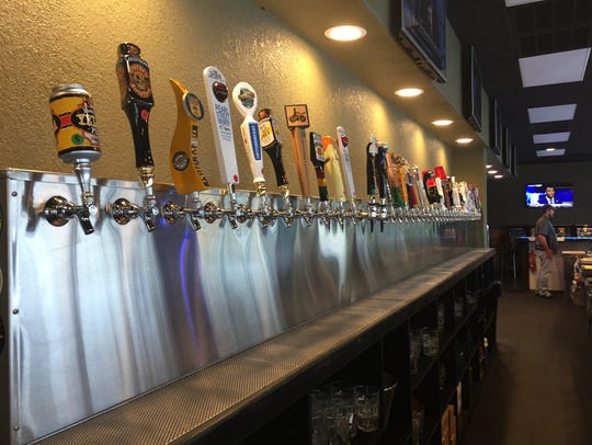 The Rib Mountain Taphouse features a selection of over