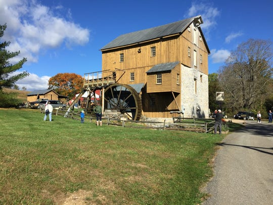 Hundreds of people attended the 21st annual Apple Butter Festival at Wade's Mill in Raphine on Saturday.