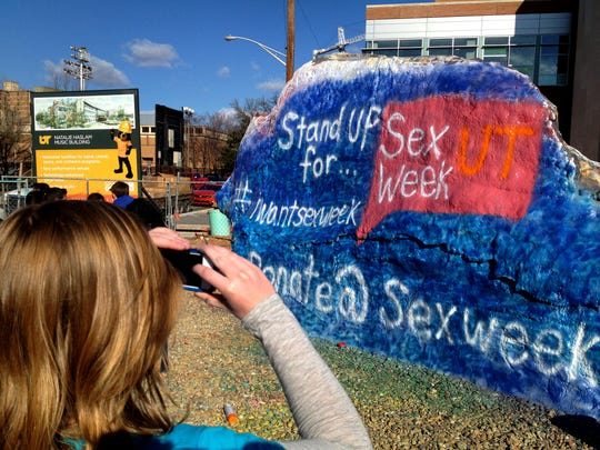 Sex Week co-founder Brianna Rader photographs a finished