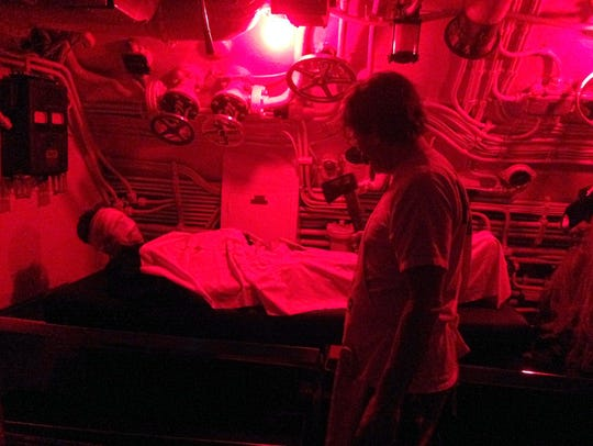 Creepy scenes are waiting inside the USS Cobia Haunted