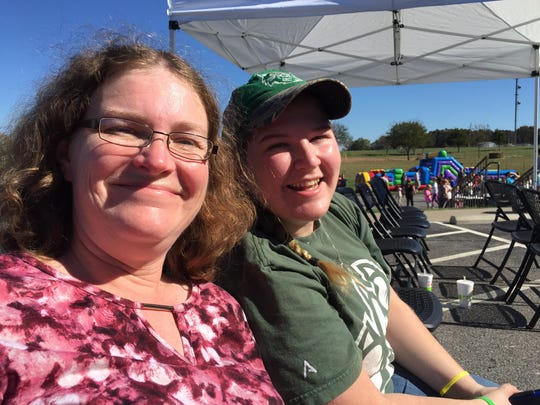 Danna Brauburger and her daughter, Emily, drove from Nixa to check out the Bread of Life Christian Church's Russian Harvest Festival at the church grounds.