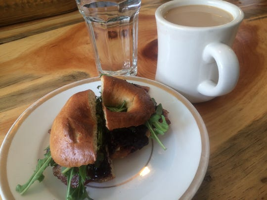 The Top Shelf Bagel is a weekend favorite at Constellation