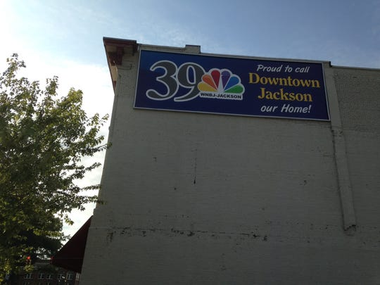 WNBJ Channel 39 in Jackson, an NBC affiliate, has a new banner in place at the station's 101 N. Highland Ave. location