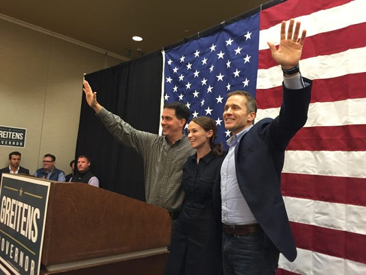 Scott Walker joins Sheena and Eric Greitens