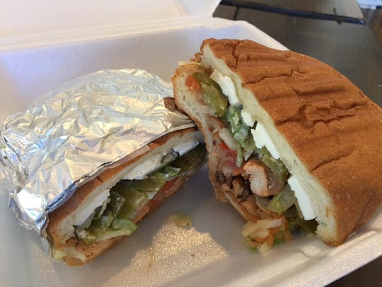 La Esquina Market has tortas, a Mexican sandwich made with sliced meat, jalapenos, cheese, sauteed onions and peppers, and served on crusty bread.