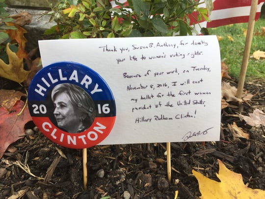 A note left the week before the election at the grave