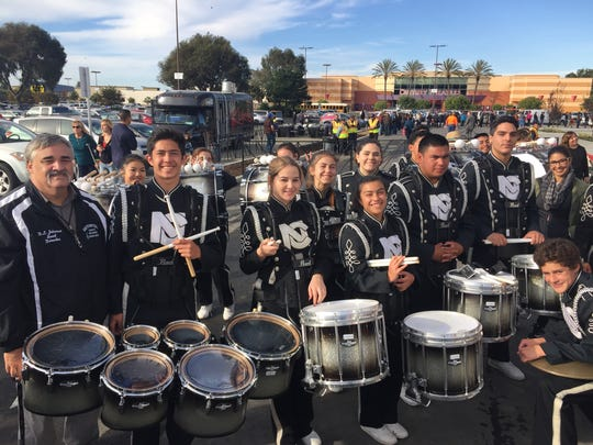 North County High School Band members provided a hearty drumroll at the opening of JCPenney's new store in Salinas