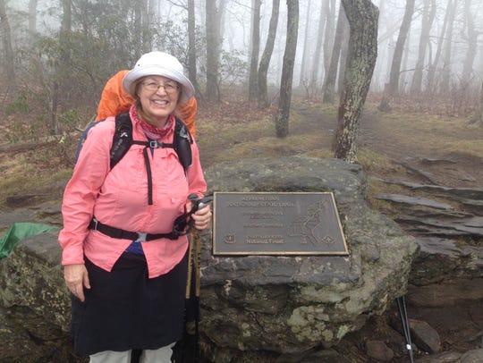 Jill Byrd begins her Appalachian Trail hike on March
