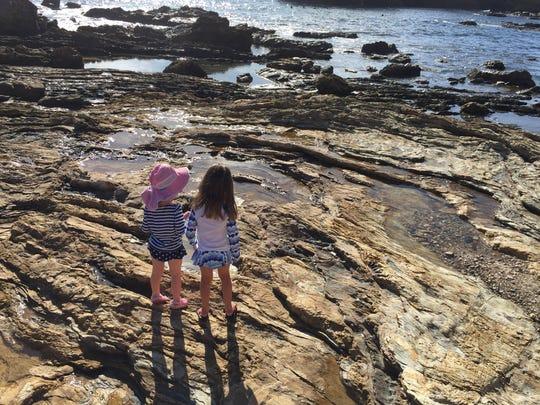 Marin and Molly Locke enjoy Corona Del Mar, California