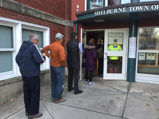 Residents began to line up out the door at 7 a.m. in