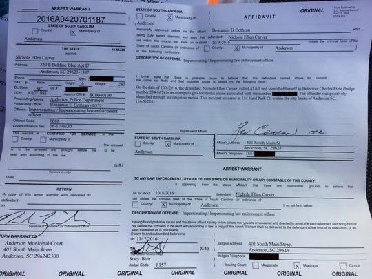 Nichole Carver warrant