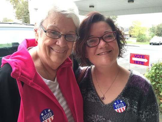 Carol Tabor, left, and granddaughter Carlie Stark voted for Donald Trump.
