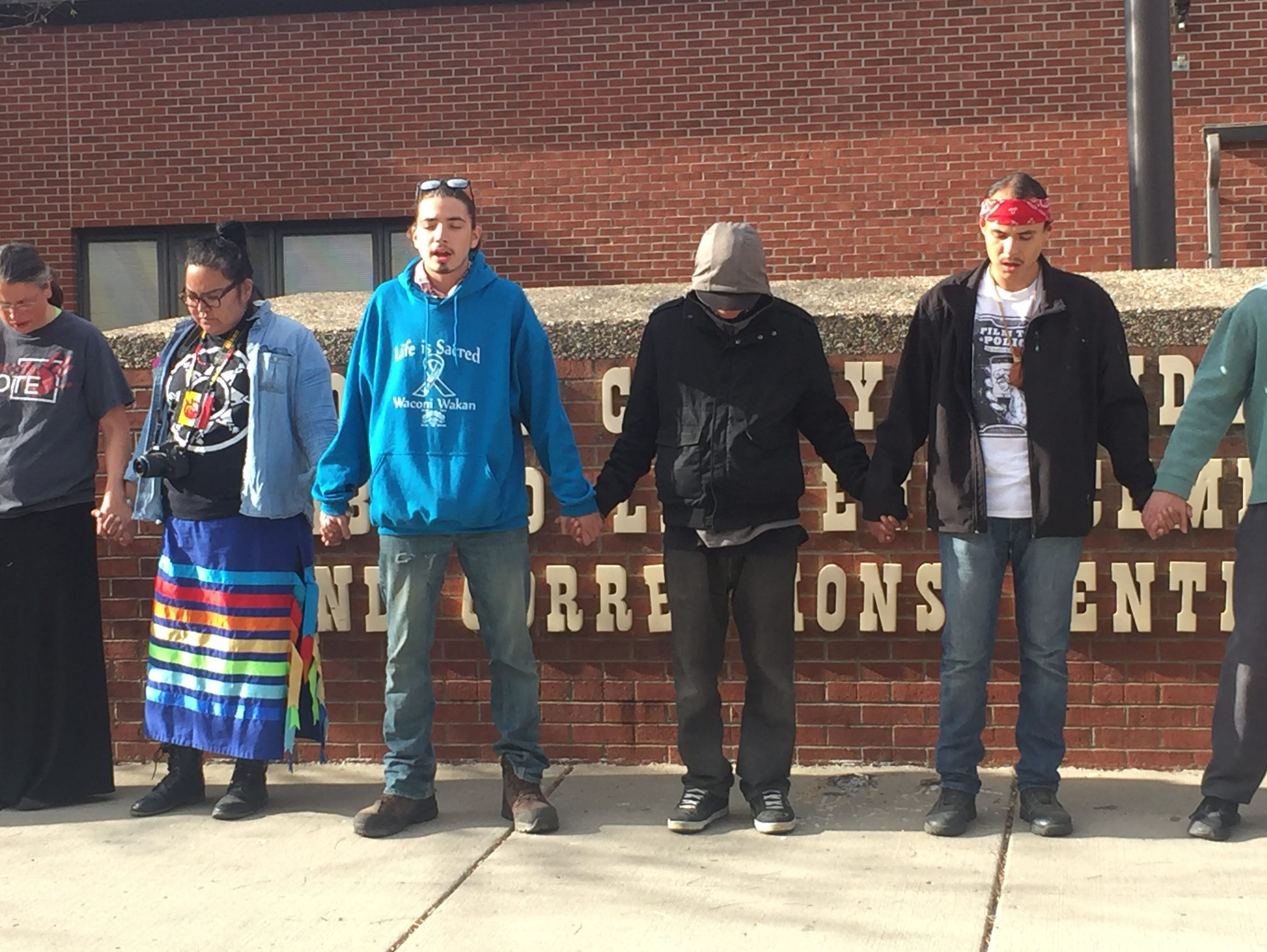 On Sunday, water protectors circled the Morton County