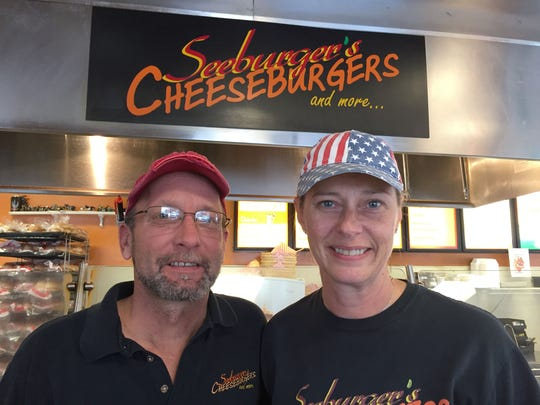 Todd and Jill Seeburger of Roseville, both age 49, owners of Seeburger's Cheeseburgers, voted for president-elect Donald Trump. Photo taken Nov. 11, 2016 at their Mt. Clemens restaurant.