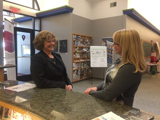 Kim Esper, left, led a survey of area employers for the Howell Area Chamber of Commerce. Jessica Wicks, right, is the chamber's communications manager.