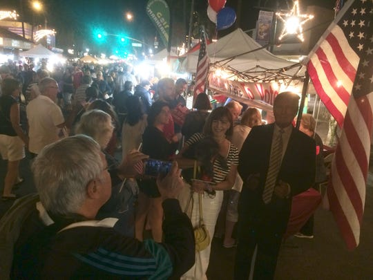 The Republican booth in downtown Palm Springs on Nov. 10, 2016.