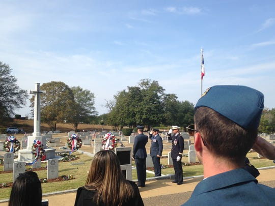 The British and French pilots who died while training at Maxwell and Gunter during WWII were remembered Sunday at Oakwood Cemetery.