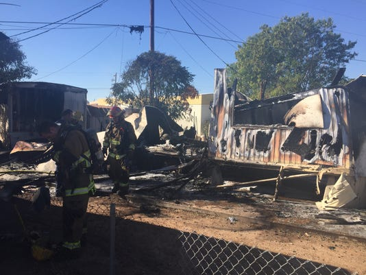 Mobile-home fire
