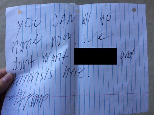 A racist note was left on an Iowa City family's door
