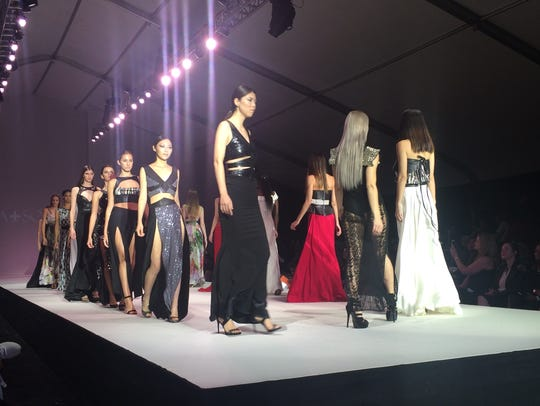 Model wearing Ina Soltani walk the runway during Style