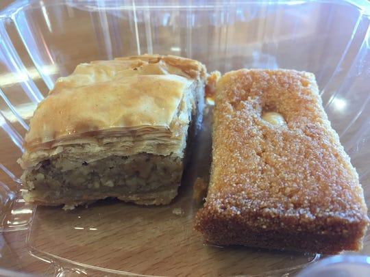 Desserts from Cedar Restaurant, 746 Monroe Ave.