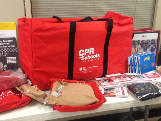 This CPR kit will go to a Jackson public high school to allow students to be properly trained on cardiopulmonary resuscitation.