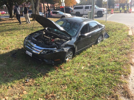 car crash at booth and 50 Nov16