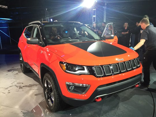 The 2017 Jeep Compass is revealed at the Los Angeles