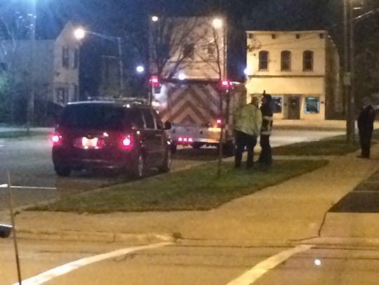 Manitowoc Police and Fire departments respond to a