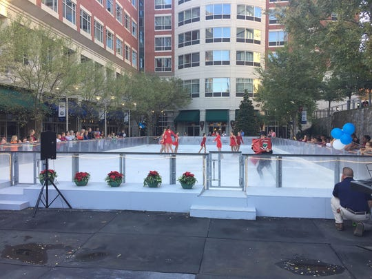 A ceremony to kick off the 2016-2017 season of United Community Bank's Ice on Main. Nov. 18, 2016