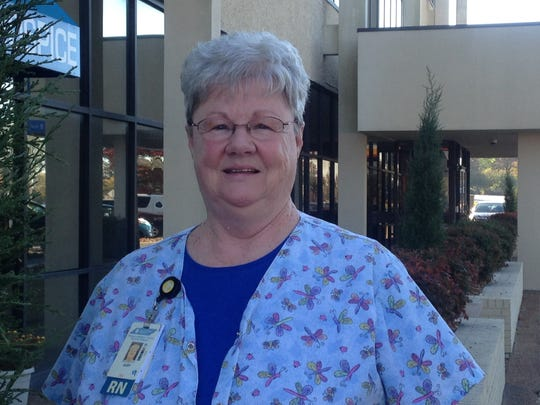 Judy Haskins is a hospice nurse with West Tennessee Healthcare.