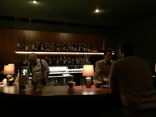 Inside Mr. Lee's, a cocktail bar at 935 Goss Ave. in